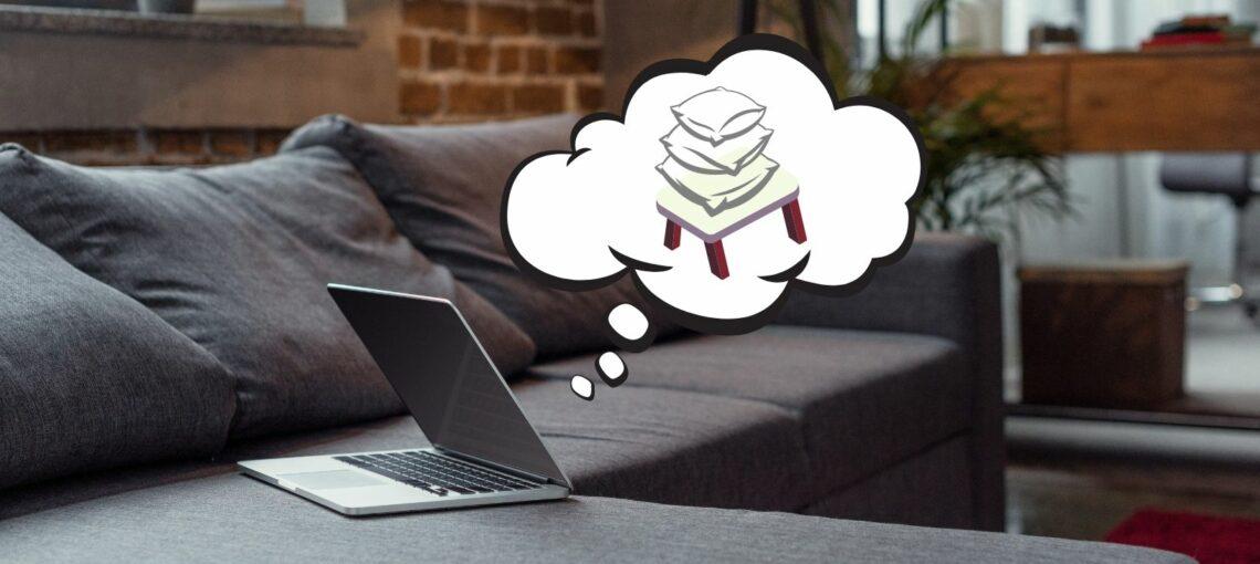 Laptop denkt Laptopkissen